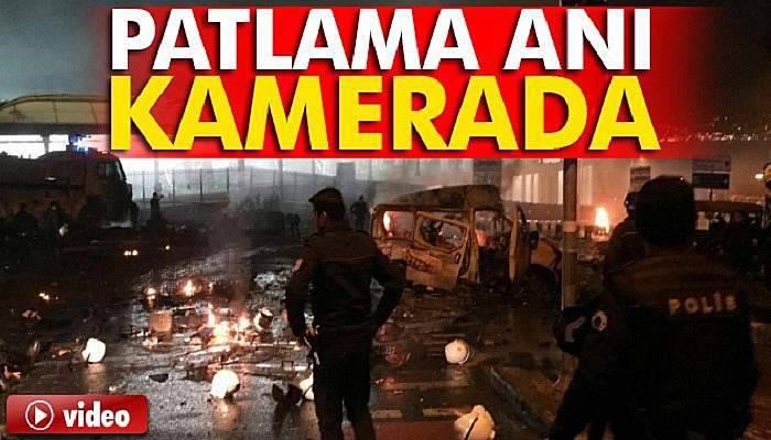 Beşiktaş'da Patlama Anı Böyle Görüntülendi