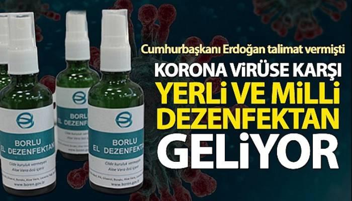 Korona virüse karşı bor katkılı el dezenfektanı geliyor