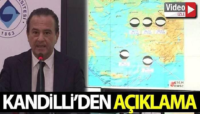 Kandilli rasathanesinden İzmir depremine ilişkin açıklama (VİDEO)