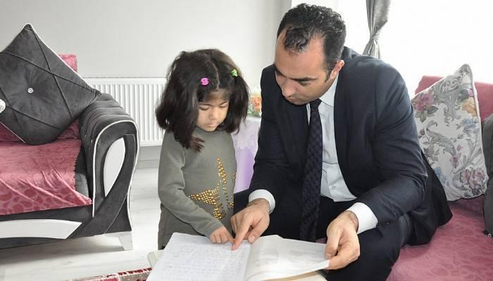 'Evde eğitim' öğrencisine ziyaret