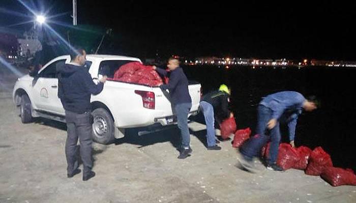 Çanakkale'de 10 ton akivadese el konuldu