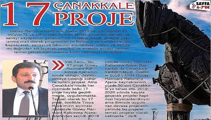 17 proje Çanakkale'nin değerine değer katacak (VİDEO)