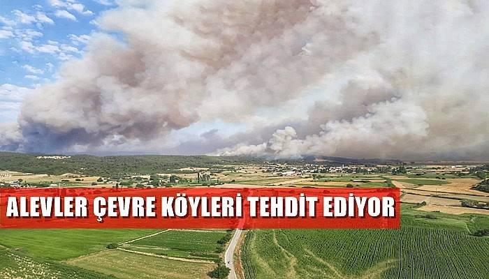 Alevler çevre köyleri tehdit ediyor