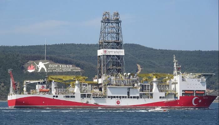 Fatih sondaj gemisi Çanakkale boğazından geçti (VİDEO)