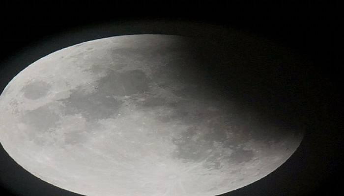 Bozcaada'da parçalı ay tutulması (VİDEO)