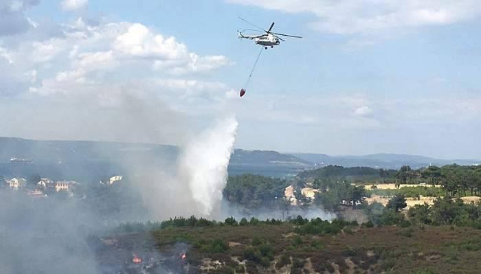 Çanakkale'deki yangın büyüyor