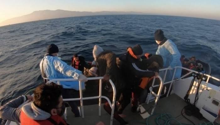 Çanakkale açıklarında 69 düzensiz göçmen kurtarıldı