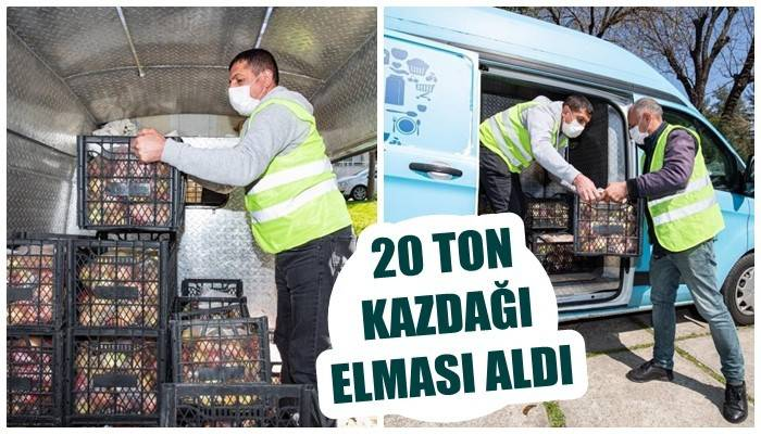 İzmir Büyükşehir Belediyesi 20 ton Kazdağı elması aldı
