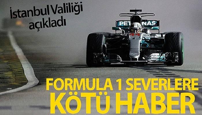 İstanbul Valiliği, Formula 1 İstanbul yarışının seyircisiz olarak düzenleneceğini duyurdu