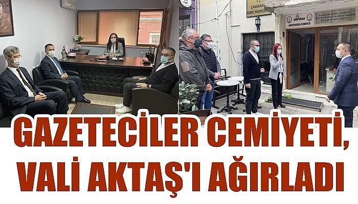 Gazeteciler Cemiyeti, Vali Aktaş'ı ağırladı