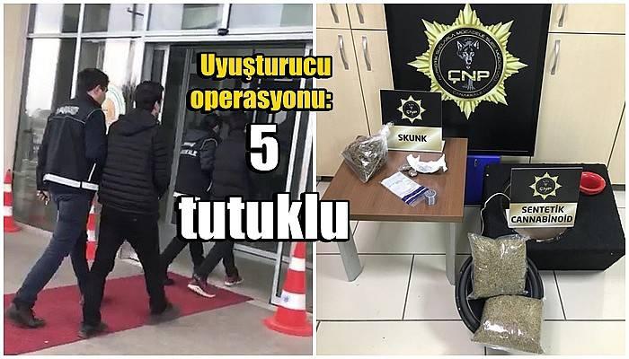 Çanakkale ve Ordu'da eş zamanlı uyuşturucu operasyonu: 5 tutuklama