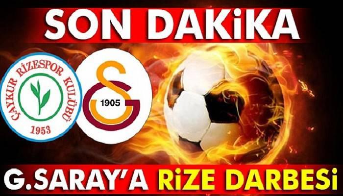 Çaykur Rizespor 1-1 Galatasaray maçı kaç kaç özet ve golleri izle (GS Rize canlı özet)