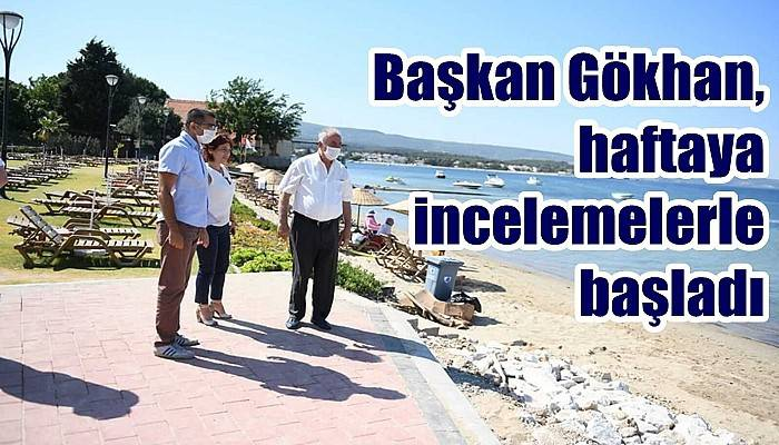 Belediye Başkanı Gökhan'dan teknik inceleme gezileri
