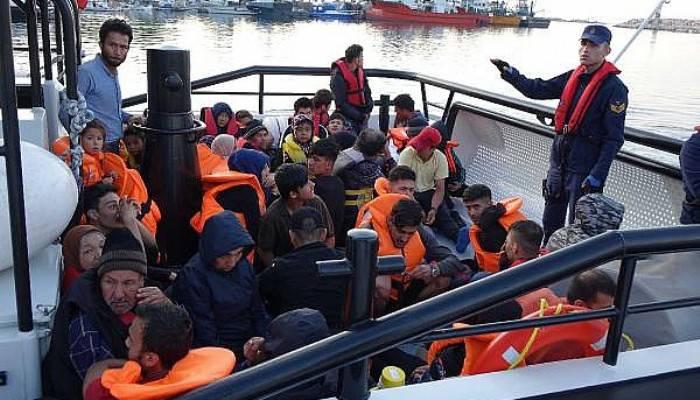 Çanakkale'de 46 kaçak göçmen yakalandı (VİDEO)