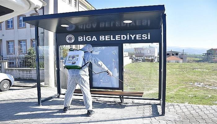 Biga Belediyesi'nden koronavirüs tedbirleri