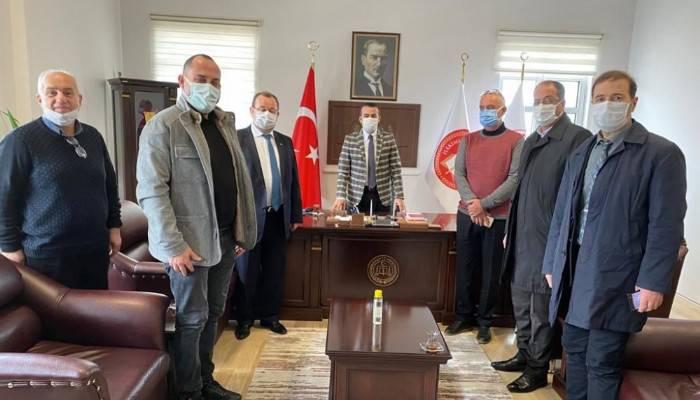"""BİGA TSO'DAN BAŞSAVCI ÖZTAŞ'A """"HAYIRLI OLSUN"""" ZİYARETİ"""