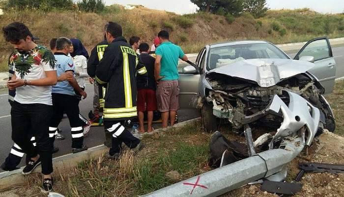 Çan'da trafik kazası; 2 yaralı