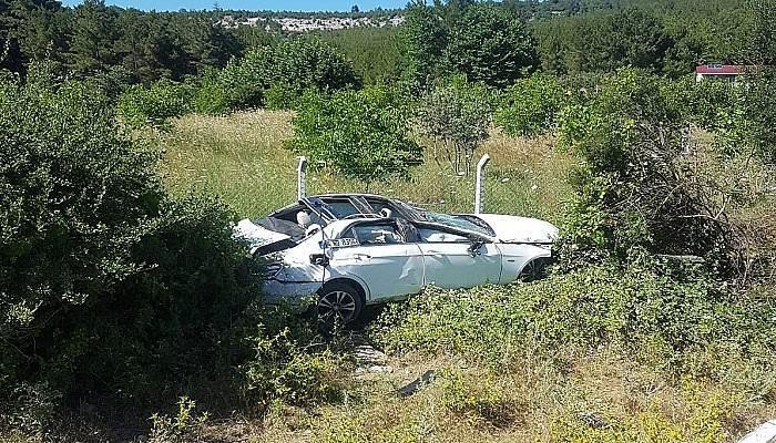 Ayvacık'ta trafik kazası: 1 yaralı
