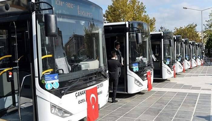 Resmi plakalı otobüslerden ücretsiz sefer