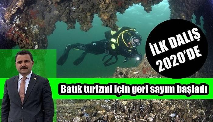 İLK DALIŞ 2020'DE Batık turizmi için geri sayım başladı