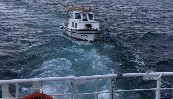 Balıkçıların yardımına Kıyı Emniyeti yetişti