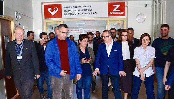 Turan'dan kalp krizi geçiren CHP'li başkana ziyaret