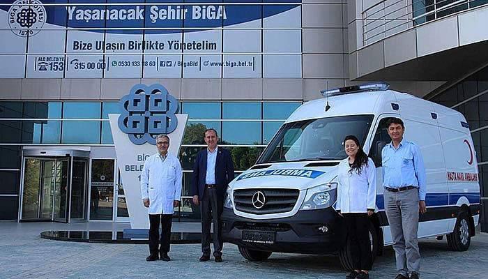 Biga Belediyesine Hasta Nakil Ambulansı Alındı