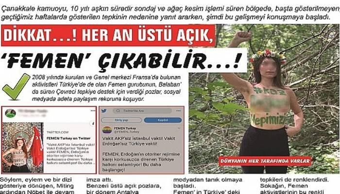 DİKKAT…! HER AN ÜSTÜ AÇIK, 'FEMEN' ÇIKABİLİR…!