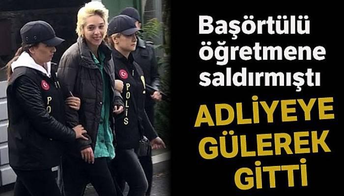 Beşiktaş'ta başörtülü öğretmene saldıran kadın adliyeye sevk edildi