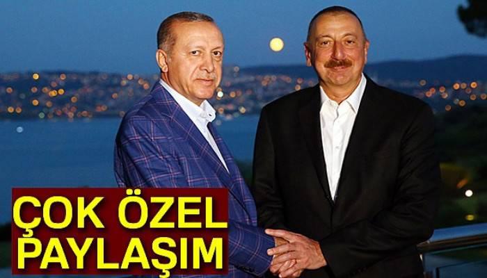 Cumhurbaşkanı Erdoğan'dan özel Aliyev paylaşımı