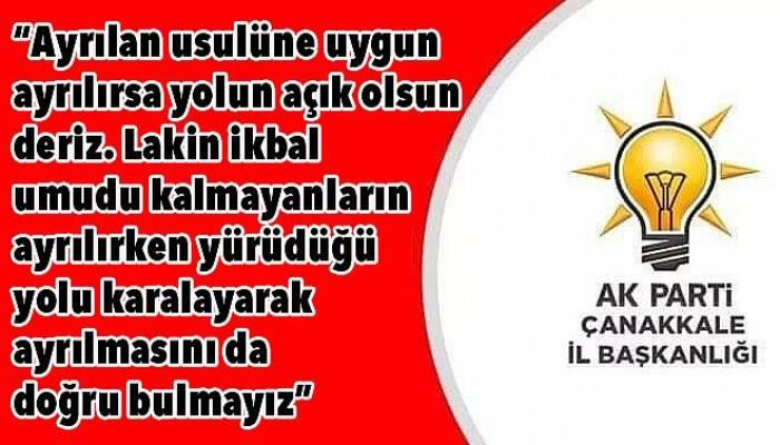 Karadağ'ın istifası sonrası bir açıklama da Ak Parti İl Başkanlığından!