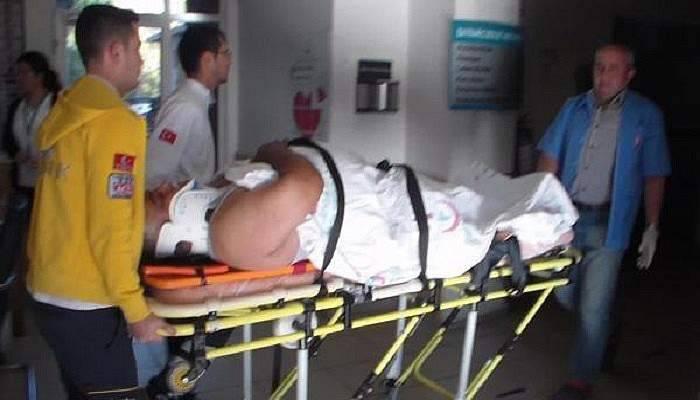 Tır'ın Çarptığı Motosikletli Kazayı Ucuz Atlattı