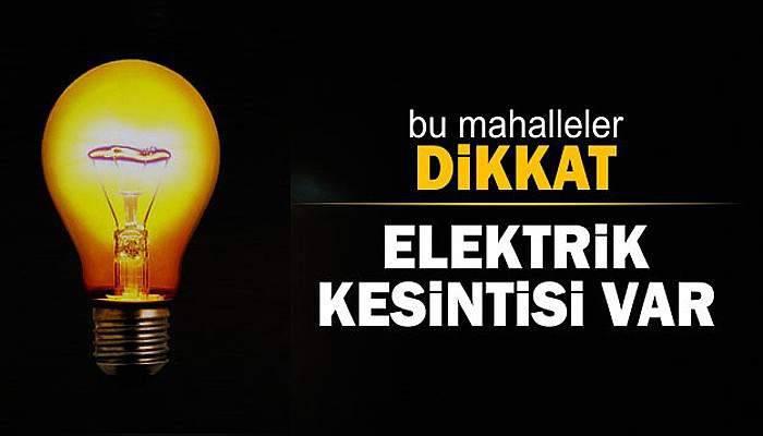 Çanakkale'de 1-2 Kasım'da elektrik kesintisi!