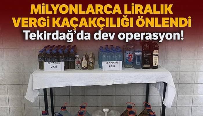 Tekirdağ'da dev operasyon: 4 milyon 840 bin TL vergi kaçakçılığı önlendi