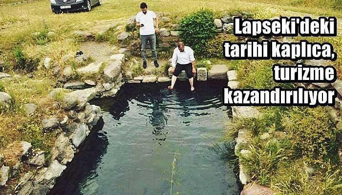 Lapseki'deki tarihi kaplıca, turizme kazandırılıyor
