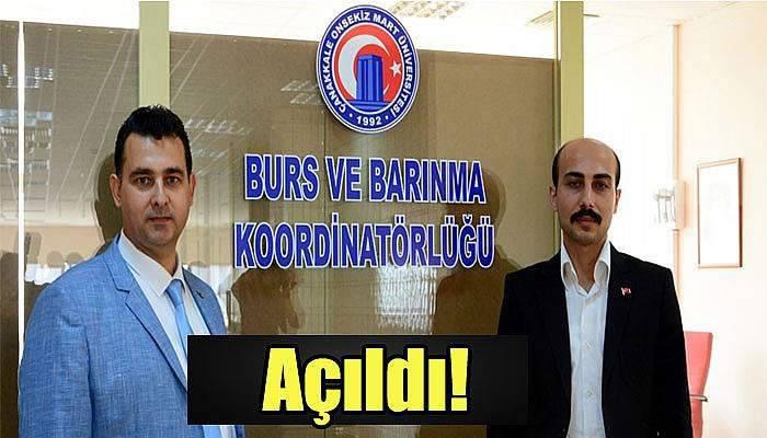 ÇOMÜ'de Burs ve Barınma Koordinatörlüğü açıldı