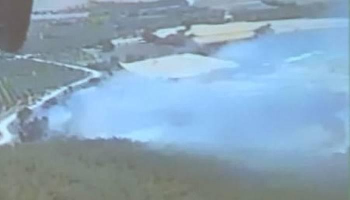 Çanakkale'de, tarım arazisinde yangın (VİDEO)