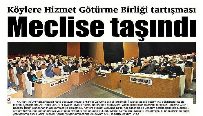 Köylere Hizmet Götürme Birliği tartışması Meclise taşındı