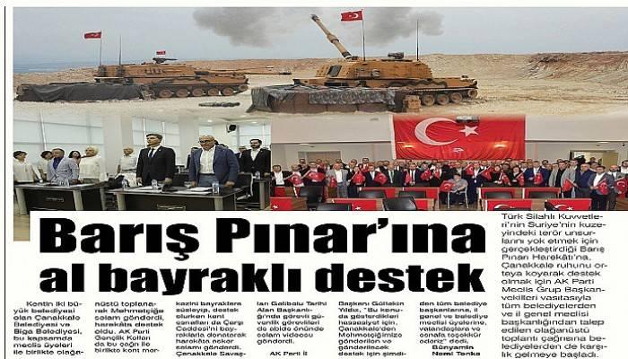 Barış Pınar'ına al bayraklı destek