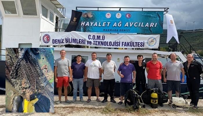 Marmara'dan 5 bin metrekare hayalet ağ çıkarıldı