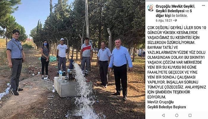 Turizm sezonda akmayan sular için vatandaşlardan özür diledi