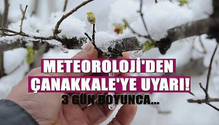 Meteoroloji'den Çanakkale'ye uyarı! 3 gün boyunca...