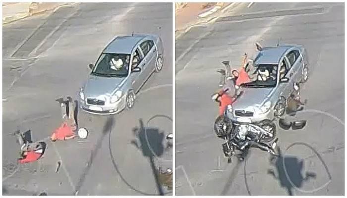 Çanakkale'de trafik kazası MOBESE kameralarına yansıdı (VİDEO)
