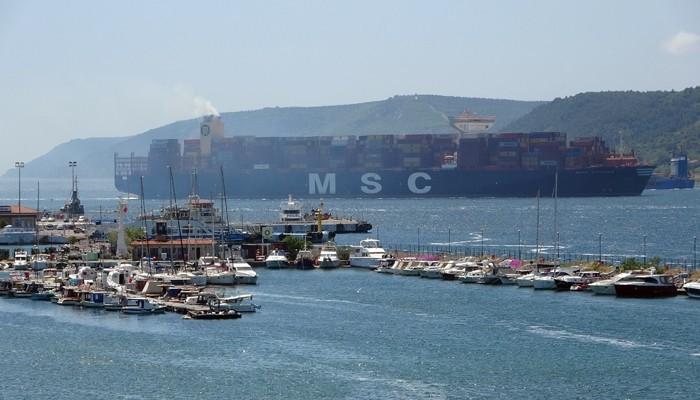 Çanakkale Boğazı 9 saat tek yönlü gemi trafiğine kapatıldı (VİDEO)