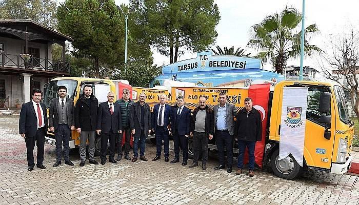 Tarsus'ta 'çöp taksi' hizmete girdi