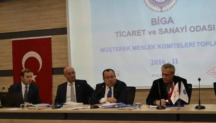 Biga TSO Müşterek Meslek Komiteleri toplantısı yapıldı
