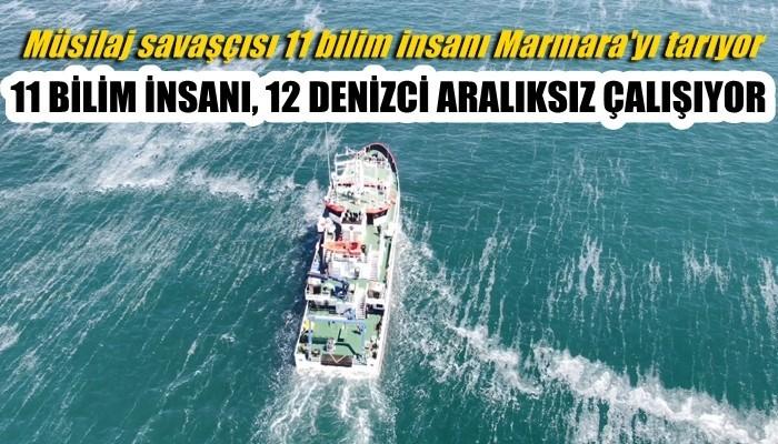 Müsilaj savaşçısı 11 bilim insanı Marmara'yı tarıyor (VİDEO)