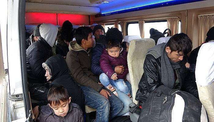 Çanakkale'de 108 kaçak göçmen yakalandı