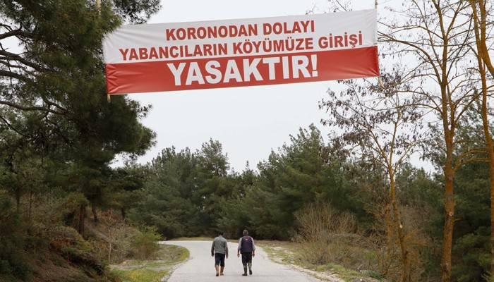 Köye yabancı girişi yasaklandı, vaka sıfırlandı (VİDEO)
