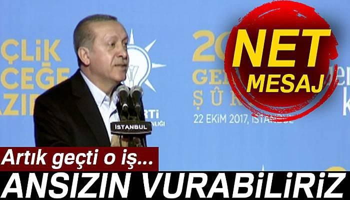 Cumhurbaşkanı Erdoğan'dan gençlere net mesaj
